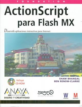 Imagen de ACTIONSCRIPT PARA FLASH MX +CD (OF)