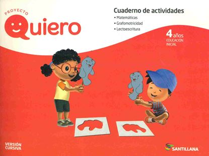 Imagen de CUADERNO QUIERO 4 AÑOS CURSIVA