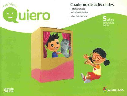 Imagen de CUADERNO QUIERO 5 AÑOS CURSIVA